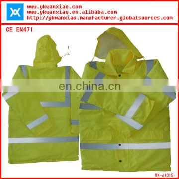 reflective safety raincoat with sealing and waterproof