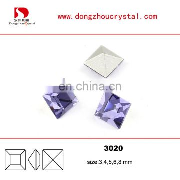 Violet design color Crystal Stone cheap loose crystal components