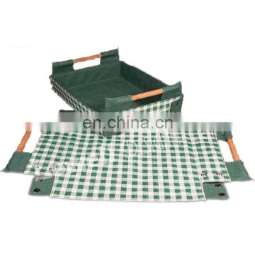 check design folding Jute Tray 2 Handle Set