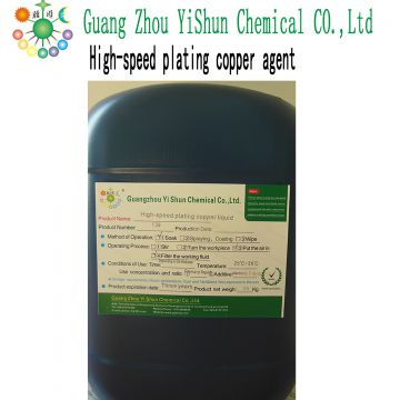 High-speed plating copper agent chemical copper plating process
