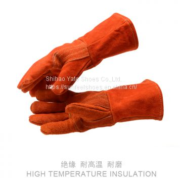 Welding Leather Double Layer Gloves Heat Shield Cover Guard Safe Protection Gloves