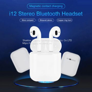 headsets Mini Stereo Bluetooth Microphone Computer Wireless Mini Headphone Earbuds Earphone Bluetooth Headset I12