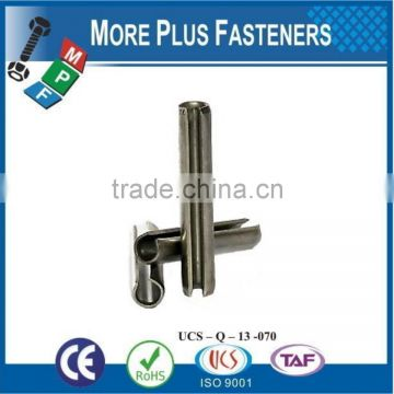 Made in Taiwan 5mm Stainless Steel Slotted Spring Tension Pins