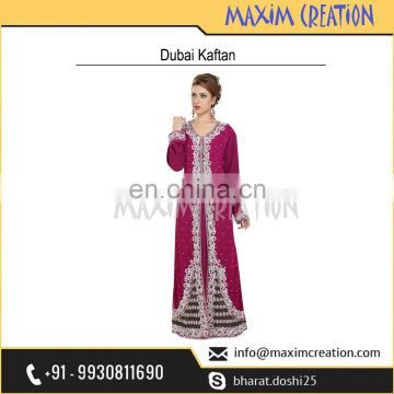 Elegant Party Wear Caftan With Bling Hand Made Embroidery Design For Ladies 6572