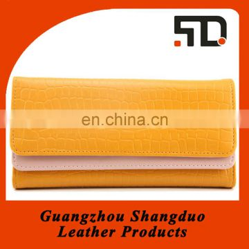 Guangzhou Wholesale Price Good Leather Women Clutch Wallet