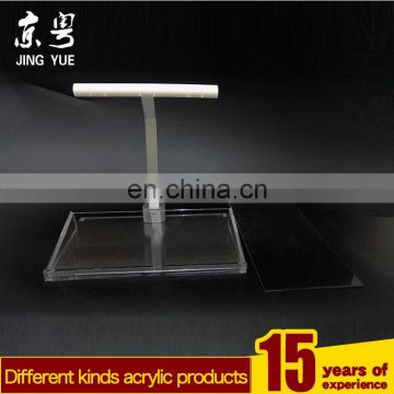 Factory custom silver color pmma plexiglass acrylic bluetooth earphone display stand