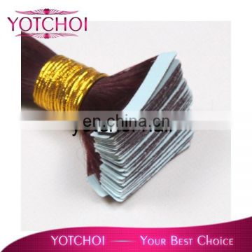 Tape In Skin Weft 100% Remy Human Hair Extensions Blonde Color