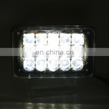 Wholesale auto parts all in one design square h4 12v 24w 4x6 inch led headlight housing for truck Replacement
