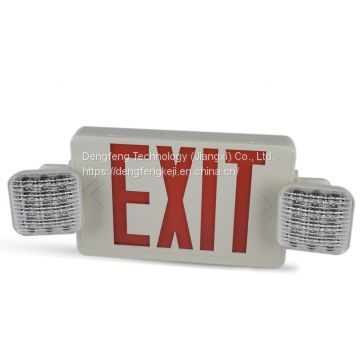 North American standard case led fire emergency lighting rechargeable warning light safety exit sign