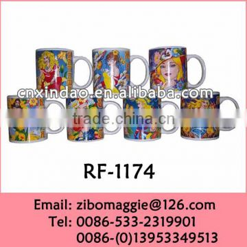 Zib Manufactures Ceramic 11oz U Shape Promotional Manly Coffee Mug wiht Zodiac Design