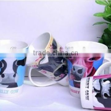 custom cups cheap white glazed sublimation cream cup , 11oz wholesale coffee cups, ceramic cup