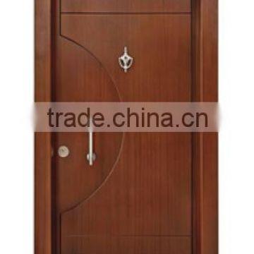 china supplier Turkey steel wooden armored security doors Luxury