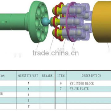 kayaba hydraulic pump parts