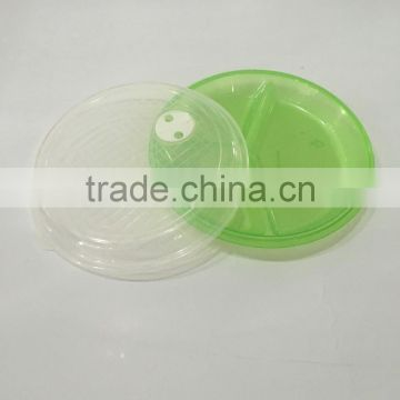 3section microwave round container plastic lunch box
