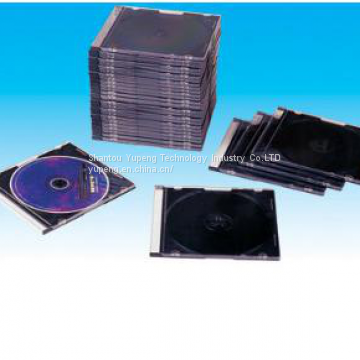 CD jewel Cases slim CD jewel Cover slim  CD jewel Box slim 5.2mm silm square with black tray china factory good quality