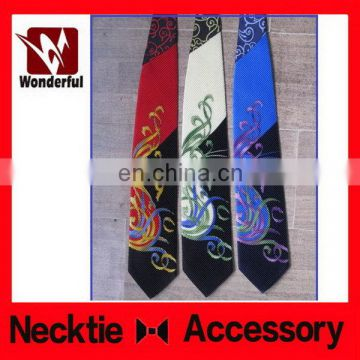 Excellent quality OEM dress with print necktie