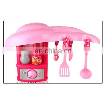 Funny touch sensing kitchen toy set with light and music