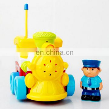 Lovely cartoon rc train toy with music and light for sale