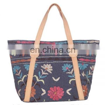 2015 Latest Handmade Floral Embroidered Cotton Shoulder Bag Fashion lady handbags female handbags classical handbag