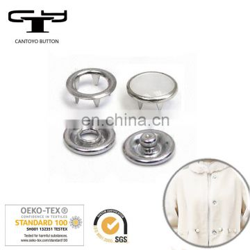 Colorful pearl garment metal snap buttons
