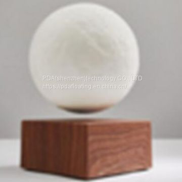 new 360 rotating rechargeble wireless magnetic levitate floating moon ball lighting