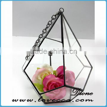 Decorate wedding geometric teardrop indoor plant terrarium glass cube