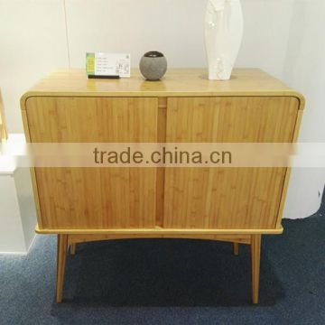 Large capacity bamboo cabinet for living room