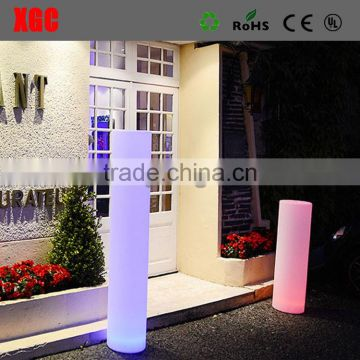 wedding colored changedable pillar for bachelorette party decorations