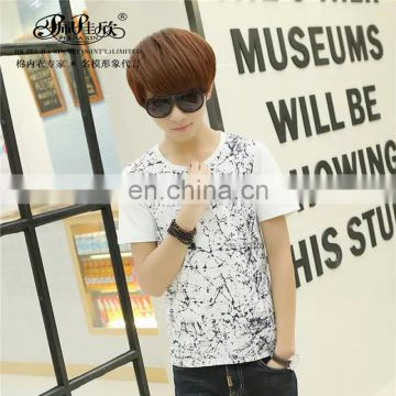 Peijiaxin Casul Style High Quality Cotton Boys Printing T shirt Custom