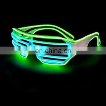 el equalizer glasses glowing light up good quality shutter party el wire Glasses