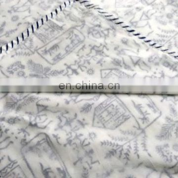 lozenge shap Indian Cotton White Damask Hand Block Printed AC Quilt Dohar 600