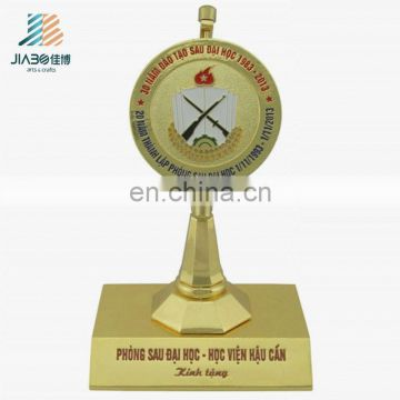 Jiabo custom made funny metal award zinc alloy gold plating trophy