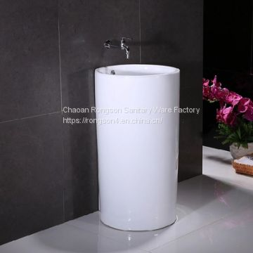 Luxury bathroom big size colorful two piece european ceramics hand wash basin made in china