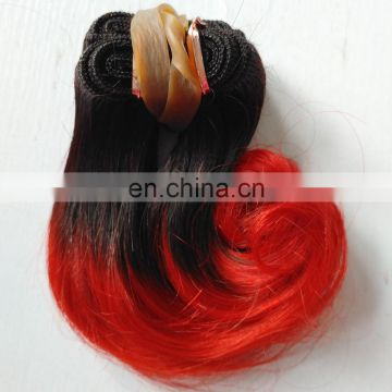 "Top quality 6""inch Brazilian virgin remy hair body wave Brazilian colored two tone hair weave color 1b 30"