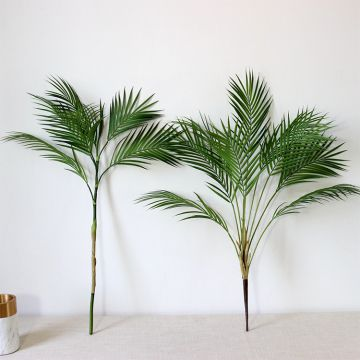 High Grade Plastic Flower Bouquet Single Stem Green Plant Artificial Palm Leaves