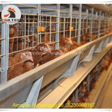 South Africa Poultry Farm Equipment - Battery Chicken Cage & Layer Cage & Chicken Coop & Laying Hen Coop & Laying Hen Cage in Chicken Farm