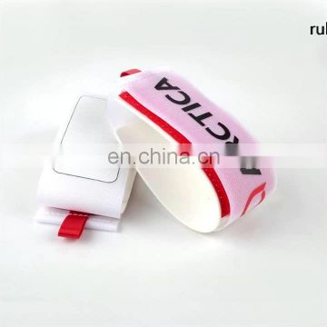 Latest pull designs White nylon magic tape + rubber ski Snowboards binding strap for adult