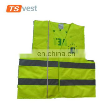 2017 custom standard size safety vest with logo printed