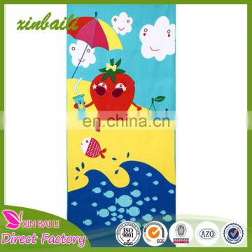 China suppliers High quality printed microfiber beach towel with logo Italy