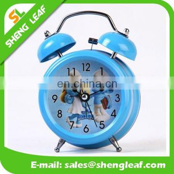 Metal bell ring the alarm clock Watch the clock creative cartoon clock