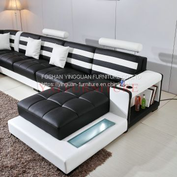 made in china factory price black with white color furniture sofa