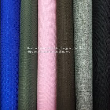 Water Repellent WR Color fastness PU backed fabric nylon polyester