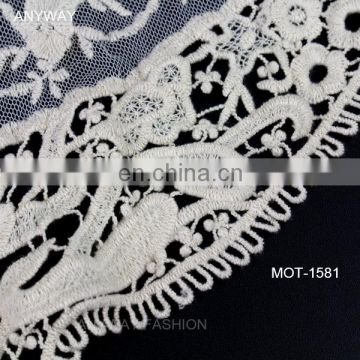 Wholesale front neck design fashion crochet lace collar cheap soft lace collars for women