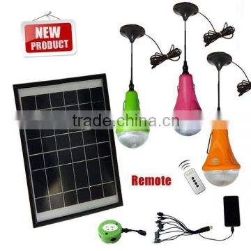 Portable solar lighting system with USB charger for mobile phone (JR-CGY)12W solar panel LED solar emergency light,