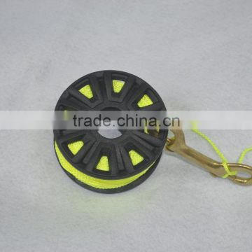 plastic dive reel fly reel nylon reel with brass hook