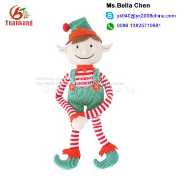 china custom mini cute plush elves doll 100 polyester soft christmas plush elf toy