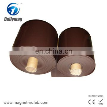 Flexible anisotropic adhesive roll rubber magnet