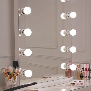 Factory Wholesale Custom Illuminated Led Makeup Vanity Hollywood