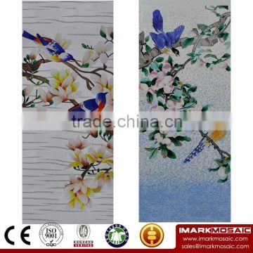IMARK Traditional Chinese Painting Bird Pattern Mural Mosaic/Mosaic Pattern Decorative Wall Tile For House Wall Decoration