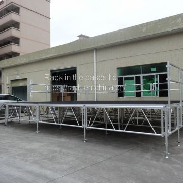 RK Popular wedding stage equipment portable Aluminum stage with adjustable legs for sale
